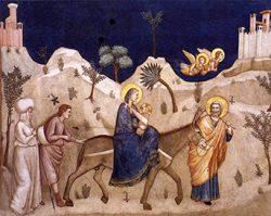 Fuga dall'Egitto - Giotto